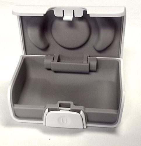 unitron white hearing aid case size small