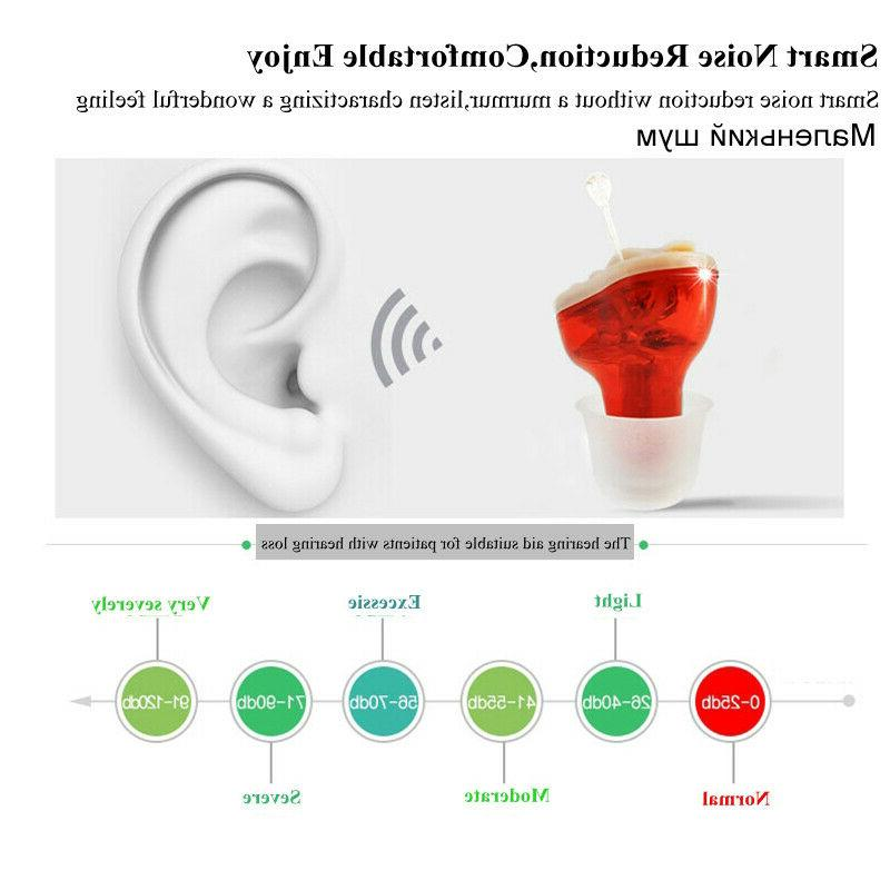 US Mini In Ear Aid Aids CIC Voice Amplifier Enhancer