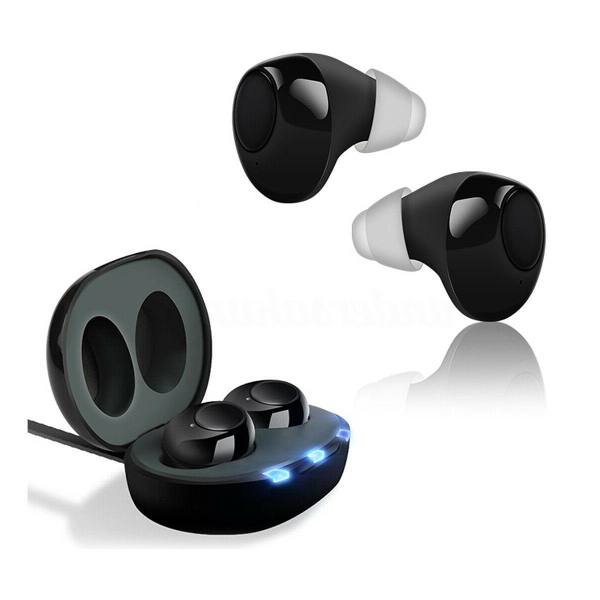 US Mini Rechargeable Aid Earbuds Voice Amplifier Enhancer