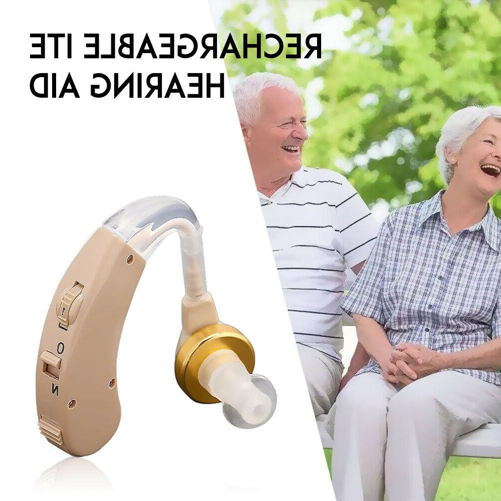 US Rechargeable Hearing Aid BTE Sound Aids Sound Voice Ampli