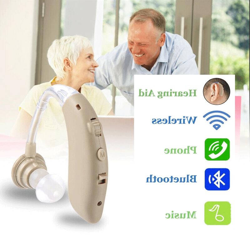 wireless bluetooth hearing aid headset headphones bte