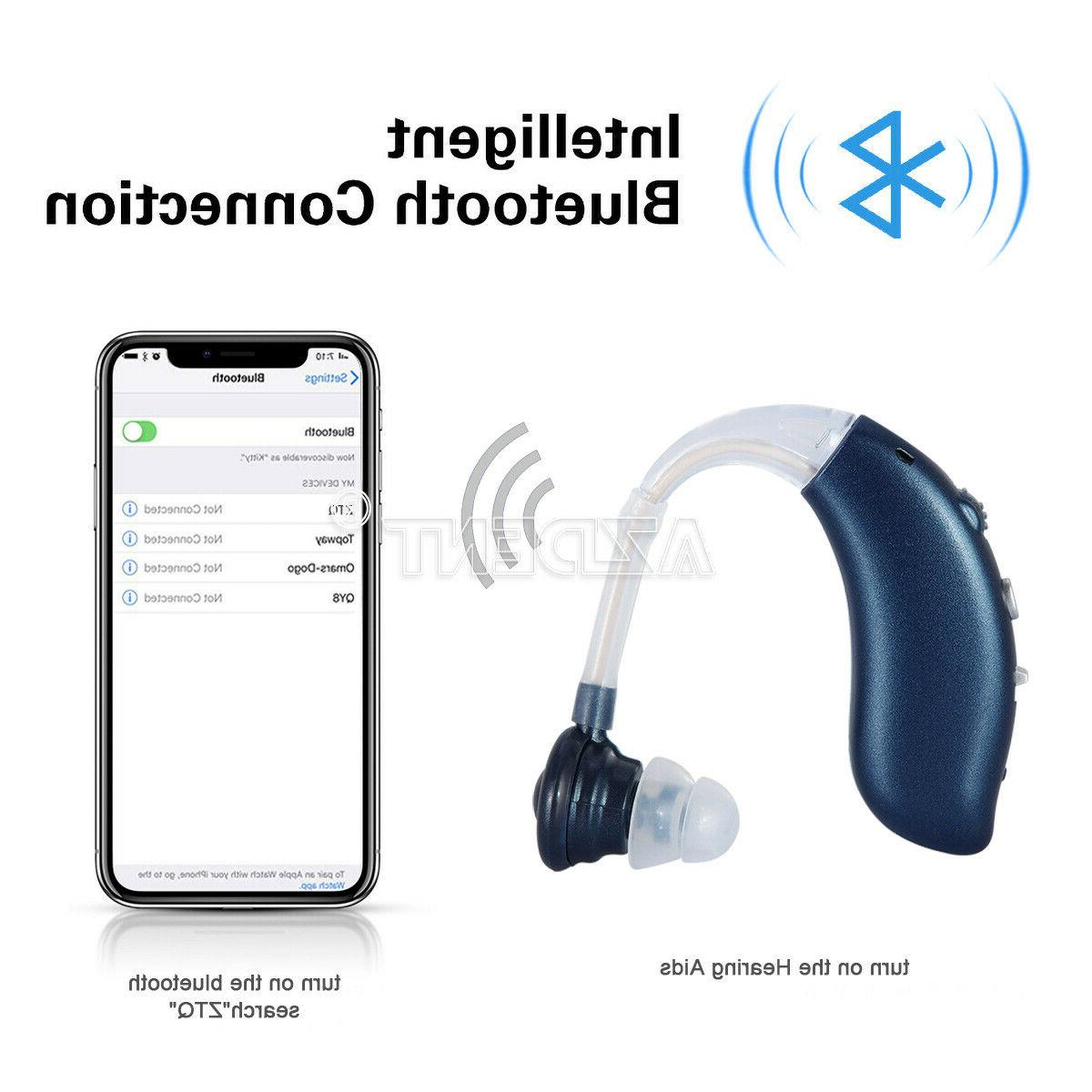 Bluetooth Rechargeable Digital Hearing Aid Severe Loss Invis