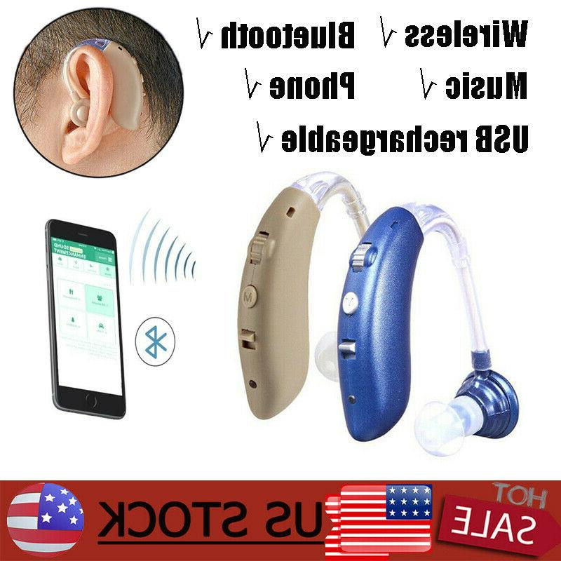 wireless bluetooth hearing aid invisible bte usb