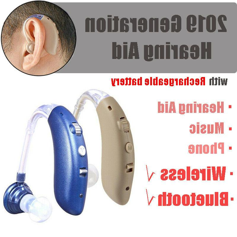 wireless bluetooth hearing aids rechargeable amplifier assis