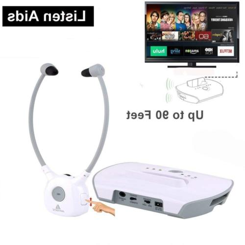 Wireless Hearing Aid Headset System,Artiste 2.4G TV Assistiv