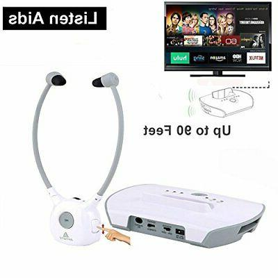 Wireless Hearing Aid Headset System,Artiste 2.4G TV Assistive Listening