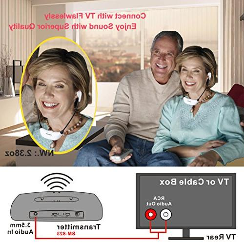 Simolio Headsets, TV Hearing TV Headphones in-Ear TV with Extra Earbuds, TV