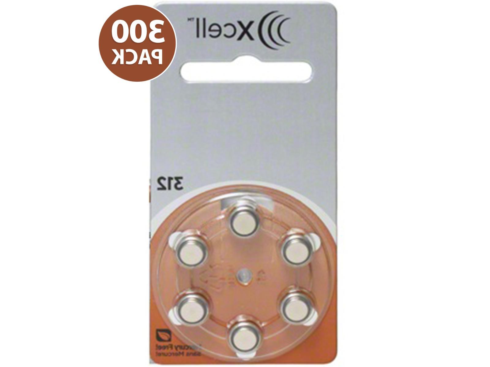 xcell size 312 zinc air mf hearing