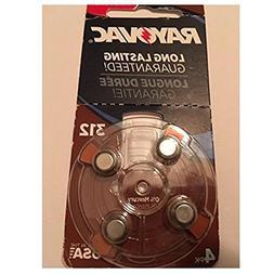 Rayovac L312ZA-4ZM Size 312 Hearing Aid Battery