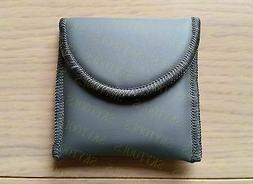Leather Hearing Aids Soft Case,Deluxe Carrying Storage Pouch