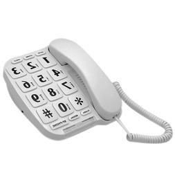LeeKer LK-P011W Big Button Corded Phone for Elderly with Han