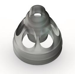 Medium Open Smokey Domes for Phonak & Unitron Hearing Aids -