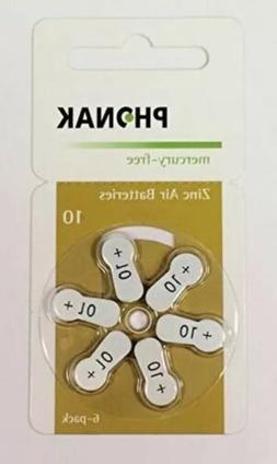 Phonak Mercury Free Size 10 Zinc Air Hearing Aid Batteries