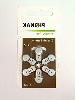 Phonak Mercury Free Size 312 Zinc Air Hearing Aid Batteries