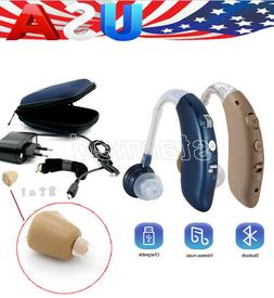 Mini Bluetooth Digital Hearing Aid Sound Amplifier Rechargea