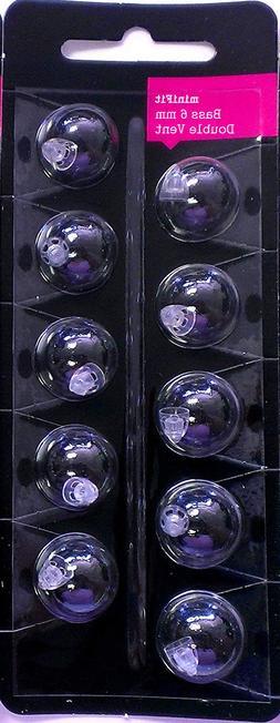 minifit Bass 6mm Double Vent Domes for Oticon & Bernafon Hea