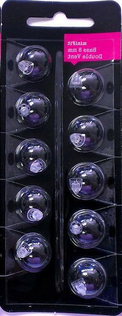 minifit Bass 8mm Double Vent Domes for Oticon & Bernafon Hea