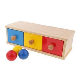 MonkeyJack Montessori Educational Toy - Wooden Box Drawer Co