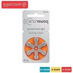 NEW 6 to 60 pcs Power One Power One Hearing Aid Batteries si