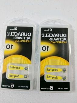 New Duracell Activair Hearing Aid 6 Pack Size 10 1.45 V Zinc