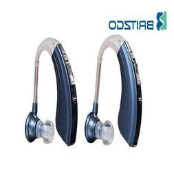 Pack Of Two Britzgo Hearing Aid Amplifiers Bha-220, 500Hr Ba