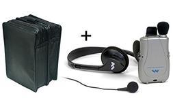 Pocketalker Ultra w-Earbud+Headphones + Leather Case - MaxiA