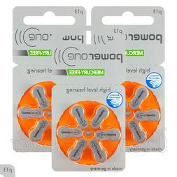 Power One 13 Size Hearing aid batteries * Zinc air Mercury f