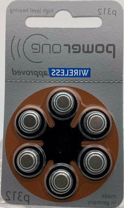 POWER ONE 312  Hearing Aid Batteries Zinc Air  P312/PR41