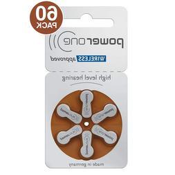 PowerOne Size 312 p312 PR41 1.45V Hearing Aid Batteries  - F