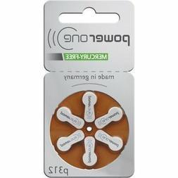 60 PowerOne Mercury Free Hearing Aid Batteries SIZE 312 Newe