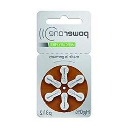 PowerOne Hearing Aid Batteries No Mercury Size 312, PR41  +
