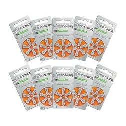 60 Powerone Hearing Aid Batteries, Size 13