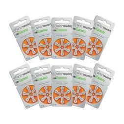 60 Powerone Hearing Aid Batteries, Size 13