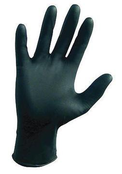 SAS Safety Raven Powder Free Black Nitrile Gloves - Small -