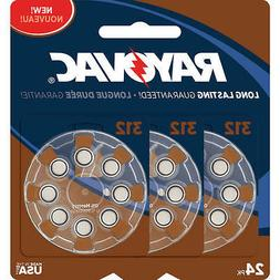Rayovac Type 312 Hearing Aid Batteries, 24-Pack, L312ZA-24ZM
