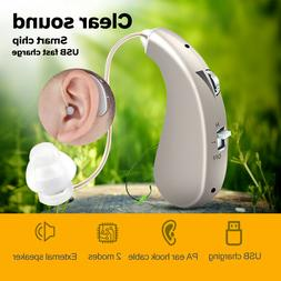 rechargeable digital hearing aid flexible lightweight bte