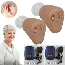 Rechargeable Digital Hearing Aid Severe Loss BTE Ear Aids Hi