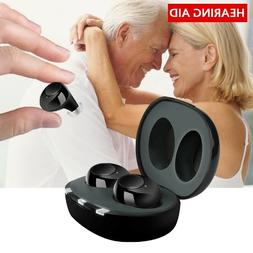 Rechargeable Mini In Ear Invisible Hearing Aids Adjustable T