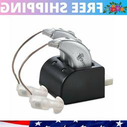 Rechargeable Pair Sound Digital Hearing Aids USB Amplifier B