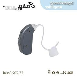 Right Ear Amplifier, Dark Gray ,By Easyuslife Hearing amplif