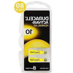 Duracell Size 10 Hearing Aid Batteries Zinc Air 1.45V Closeo