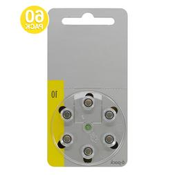 Power Special Size 10 Zinc Air Hearing Aid Batteries  +2 bon
