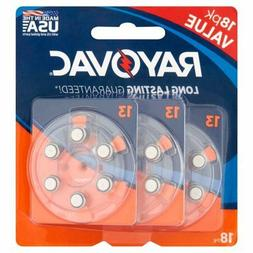 *Rayovac Size 13 Hearing Aid Batteries 18 Pack*