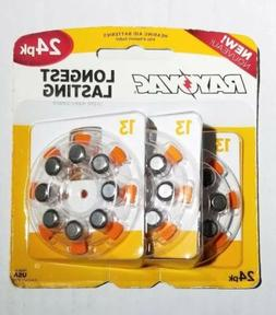 Rayovac Size 13 Hearing Aid Batteries  Packs of 24 Exp : 06/