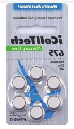iCell Tech Size 675 Hearing Aid Batteries  3 year shelf life