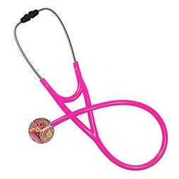 Ultrascope Adult Stethoscope - Pink Paisley Head with Hot Pi