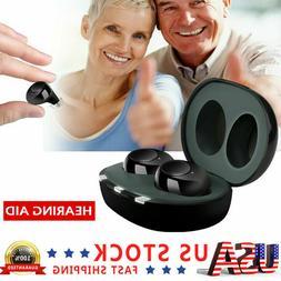 US 1Pair Invisible Digital Mini Ear Hearing Aid Enhancer Sou