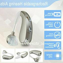 US Mini Rechargeable Digital RIC Hearing Aids BTE Severe Los
