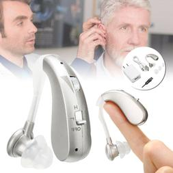 US Rechargeable Digital Hearing Aid Severe Loss Invisible BT