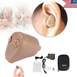 US Rechargeable Digital Small In Ear Hearing Aids Adjust Ton